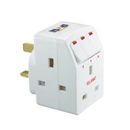 Selamat 3-Way Multi-Adaptor c/w LED Switch