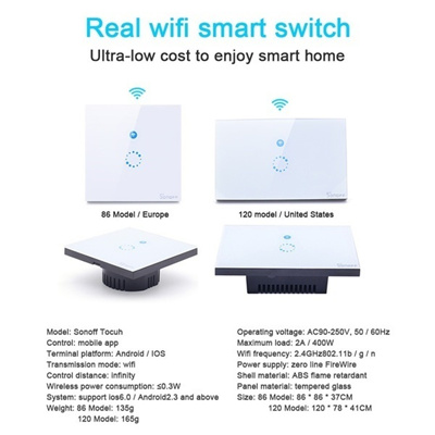 Sonoff Touch Switch wifi wireless Timing wall Switch Remote Control  Everlasting Store
