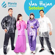 Jas Hujan Jaket Celana Transparan 700 Plevia Stelan Raincoat Murah