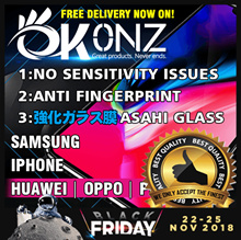 ★Free Delivery★Easy Installation★No Sensitivity Issue★OKONZ 3D Curve Japan 10D Tempered Glass