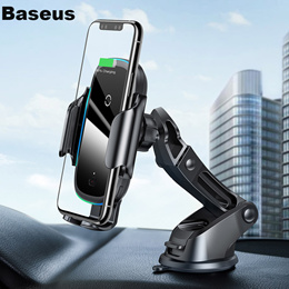 Baseus 15W Wireless Car Charger for IPhone 11 Pro Samsaung Fast Wireless Charging Intelligent