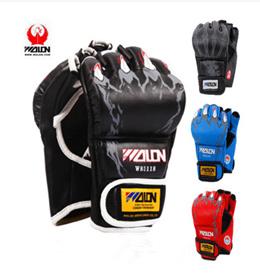 Wulong thickening boxing gloves half finger adult Sanda fighting MMA martial arts boxing sandbags pr
