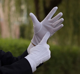 SG SELLER 6 pairs Mens Women's White Cotton Gloves for Catering Inspection doorman banquet party