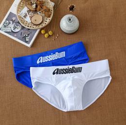 AussieBum Speedo men&#39 s swim trunks into the water gradually implicit low waist fashion swim tr