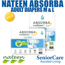 (CARTON) Nateen Absorba Plus Adult Diapers Diaper Tena SENI Care Under Pads Large Super Absorbent