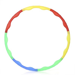 Detachable Adjustable Multicoloured Hula Hoop for Gymnastic Sport