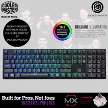 Cooler Master Masterkeys Pro L RGB Mechanical Gaming Keyboard (Brown/Red) Switch