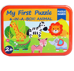 6-in-1 Cartoon Puzzle Games for Baby / Toddler