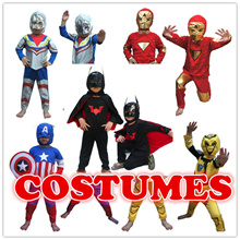 Superhero costumes for kids superhero capes anime cosplay carnival costume Superman Spiderman