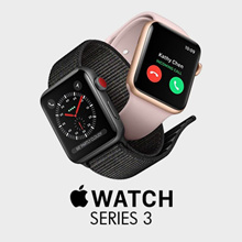 [Buy at RM 1472 with RM 120 Coupon Discount] Apple Watch Series 3 38mm/42mm Aluminium Case with Sport Band- 1 Year Apple Malaysia Warranty