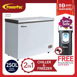 PowerPac Chest Freezer 250L CFC Free (PPFZ250)