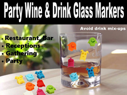 Silicone Party Wine Beer Drink Glass Markers