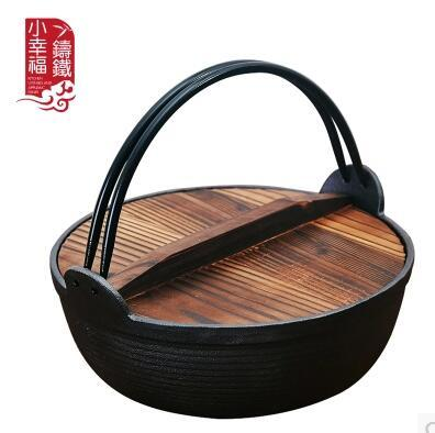 Cast Iron Stew Pot Traditional Uncoated Anese Non Stick Pan Old Fashioned Pig