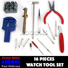 16pc Watch Tool Set / Case Back Opener/ Repair Tool Kit/ Band Pin Strap Link Remover/ Best Seller!