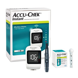 ACCU CHEK Instant Blood Glucose Monitoring Meter System Kit + 10 strip free 로슈 아큐-첵 인스턴트