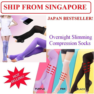 9e9e61a43e7f54 SG SELLER☆BEST BUY☆Japan Sleeping Slimming Compression Socks☆CALF Simming  Legging☆
