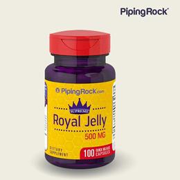 PipingRock 로얄젤리 ROYAL JELLY 500mg 100캡슐