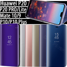 Smart Mirror View Case For Huawei Honor Play P20 Pro P10 Plus Nova2 lite Mate10 OPPO R11 Leather