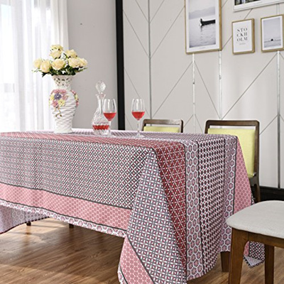 Stupendous Jiater Floral Printed Table Cloth Spillproof Polyester Fabric Rectangle Tablecloths Bralicious Painted Fabric Chair Ideas Braliciousco
