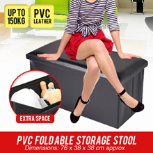 [July Special] High Quality PVC Fold able Storage Stool/Foldable Stool/Storage Organizer/Storage