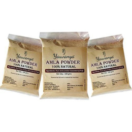 Yauvanya Pure Amla (Indian Gooseberry) Powder for Hair ? Chemical free, organic 3x100 gms [CJQ]