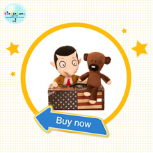 2PCS Hot 30cm soft plush doll creative Mr Bean teddy bear cute cartoon plush doll funny novelty doll