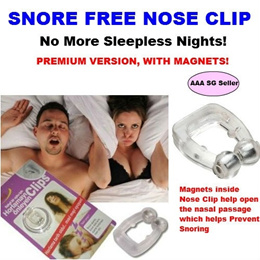 Stop Snoring Anti Snore Nose Clip Health Product Sleep Better Cure Sleepless Nights - Premium Magnets Seen on TV