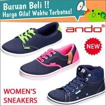 FREE SHIPPING NASIONAL! New Collection Ando Women Kets / 14 Model /   Sepatu Wanita Sneakers