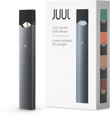 JUUL 4 STARTER KIT + CHARGER INCLUDE 4 FLAVOR Pods 100% ORIGINAL