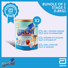 Grow School Stage 5 - Milk Formula 1.8kg Bundle of 2