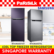 SAMSUNG 430L Top Freezer Fridge RT43K6037SL / RT43K6037UT - SINGAPORE WARRANTY