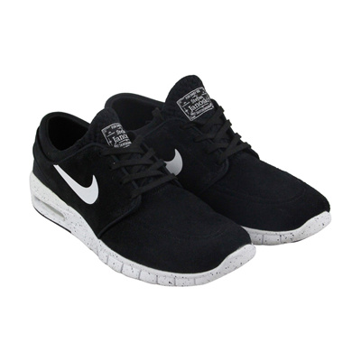 8a3080f728 Nike Stefan Janoski Max L Mens Black Suede Athletic Lace Up Skate Shoes 9