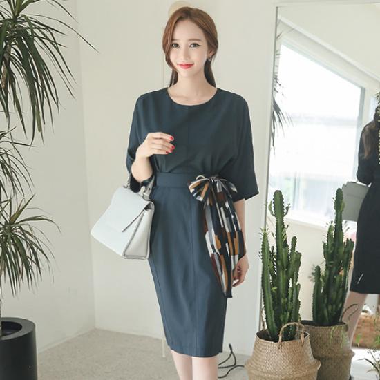 オッドDRI382、スカーフ、ベルト7部秋ワンピース スーツワンピース/ 韓国ファッション