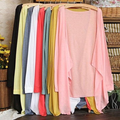 Promotion Day Summer Women Long Thin Cardigan Modal Sun Protection Clothing Tops