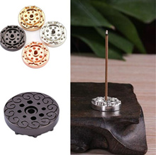 Elegant Mini Incense Burner Holder Brass Incense Base With 9 Slot For Incense Sticks And Incense Con