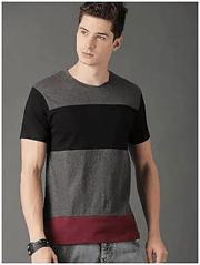 Gray Black Gray Maroon Tshirt