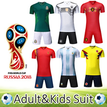 2018 World Cup soccer jersey/suit/adult/kids/Germany/Argentina/Brazil/Spain/Belgium/France/Russia