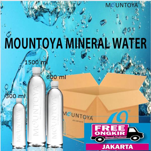 MOUNTOYA AIR MINERAL Botol 330ml | Botol 600ml | Botol 1500ml FREE ONGKIR JAKARTA ONLY Deals for only Rp51.500 instead of Rp51.500