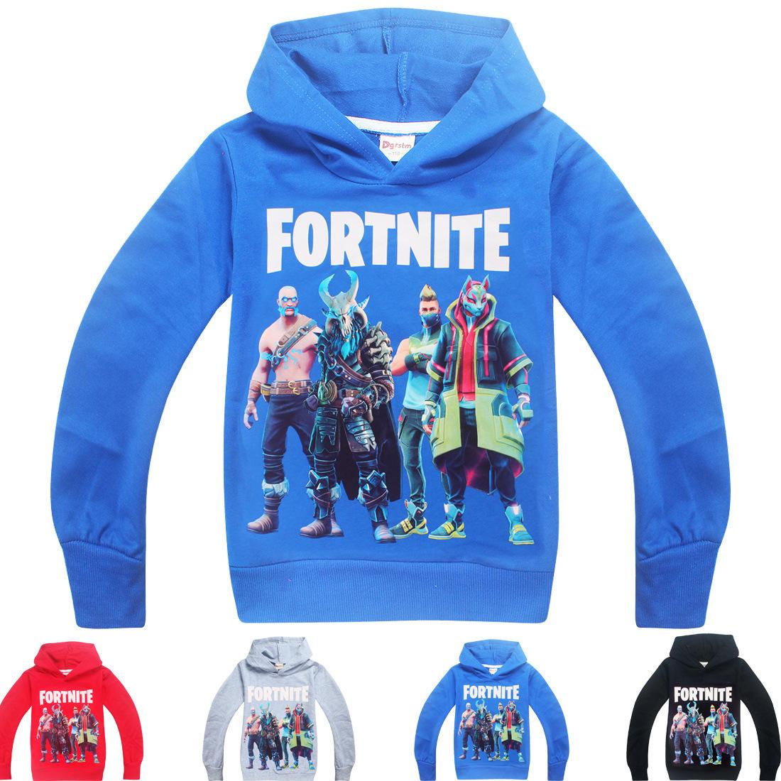 Autumn New Fortress Night Big children Wear Hoodie Fortnite Boys Long  Sleeve T-shirt 7230 Fortnite