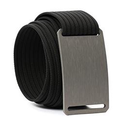 Grip6 Adjustable No Holes Mens Belt (48, Graphite)