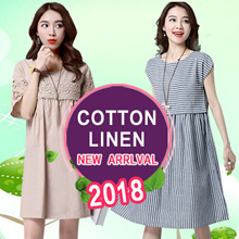 【ONE DAY PROMO!!】【Fashion paradise】 Linen Apparels Cotton Dress Japan Linen ★ FLAT SHIPPING ★
