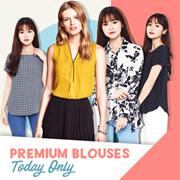 Women Longsleeve/shortsleeve blouse