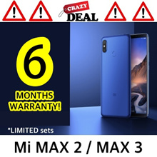 [6 MTHS warranty!] Mi Max 2 / MAX 3! GOLD/BLACK | MAX 3 CRAZY PRICE NOW! LIMITED |6.4inch|GLOBAL ROM