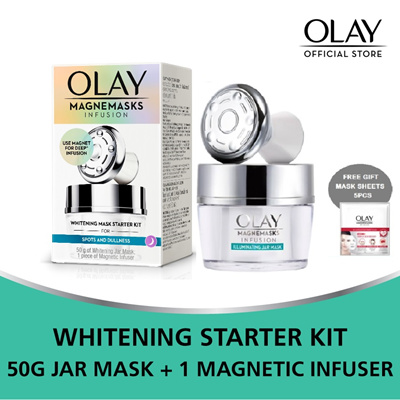 Olay Magnemasks Infusion Whitening+Magnetic Infuser + Free 5pc Mask Sheet