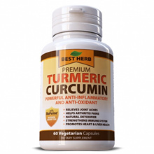Turmeric Curcumin BioPerine Black Pepper 500mg Joint Relief Anti-Inflammatory Antioxidant 60 Caps