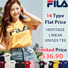 [FILA] ♥Only This Week $36.90♥ 16Type Unisex Linear Logo Short Sleeve T Shirt / 100% Authentic / Flat Price