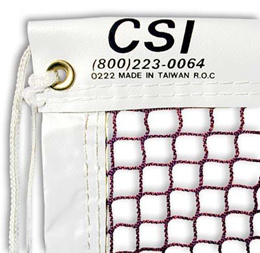21 CSI Cannon Sports Knotted Badminton Tournament Net with Steel Cable