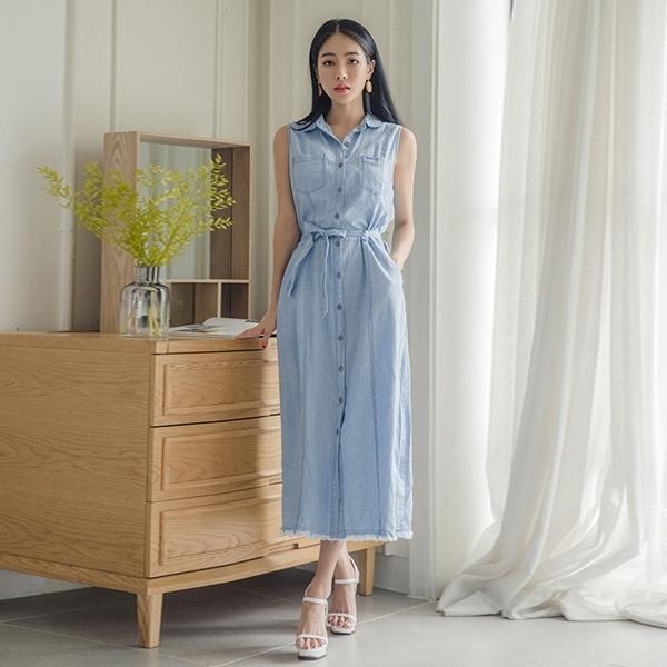チェルルニのデニムワンピースひもSETnew ミニワンピース/ワンピース/韓国ファッション