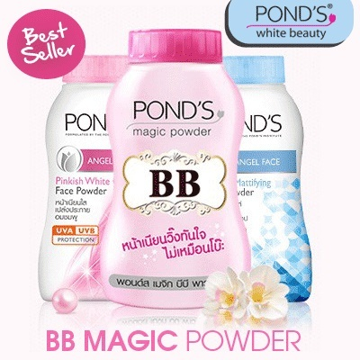 BEST SELLER! Ponds BB Magic Powder / Pinkish White Glow / Natural Mattifying 50gr Deals for only Rp70.000 instead of Rp70.000