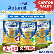 [CTN SALES] Aptamil Gold+ Premium Milk Formula / New Zealand Imported 6 Tins